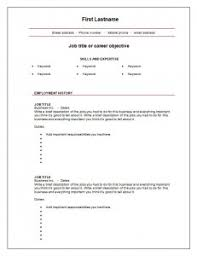 Free Fill In The Blank Resume Templates Resume Empty Format Simple