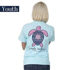 Simply Southern Size Chart Youth Details About Youth Ikat Save Them Turtles Simply Southern Tee Shirt