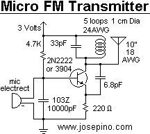 one transistor radio circuit powered by a 1 5v battery circuit mini micro fm microphone transmitter circuit schematic diy electronics electronics projects electric circuit