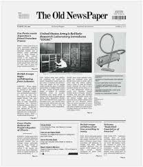 Free Download 56 Newspaper Template For Word Picture