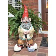 toad hollow 21 in golfer gnome holding
