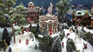Christmas Tree Village Display Stands How to Build a Christmas Village Display with Lemax houses YouTube 93