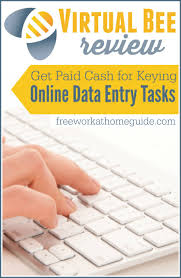 virtual bee review get paid to key online data entry jobs get paid cash for keying online data entry tasks at virtual bee work at