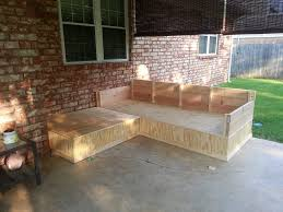 diy outdoor pallet sectional. Pallet Bench Outdoor Patio Sofa Diy Sectional Small Balcony Furniture With Storage O