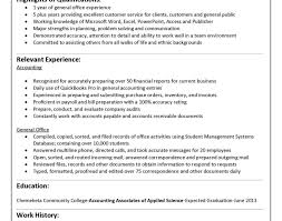 resume accounting graduate resume no experience stunning entry