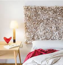 Bed without headboard would look awesome by some art piece