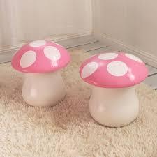 mushroom stool video game theme custom furniture. kids mushroom chair set of 2 stool video game theme custom furniture