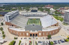 Aerial Views Of Kinnick Stadium On The Campus Of The