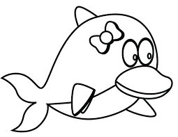Dolphins Coloring Sheets Dolphins Coloring Page Baby Dolphin