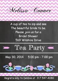 Kitchen Tea Invites Tea Party Invitations For Children