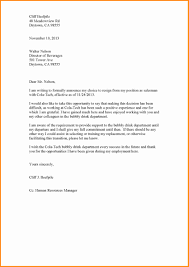 Example Of A Resignation Letter - April.onthemarch.co