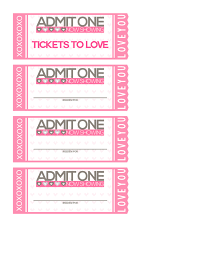 Make Free Tickets Free Printable Tickets To Love Valentine Coupon Book
