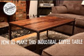 how to make an industrial furniture wood and metal coffee table you