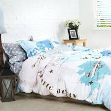 airplane bedding twin elegant boys light blue white and coffee world map vintage print bed set airplane bedding twin set