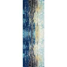 katharina blue 3 ft x 12 ft runner rug