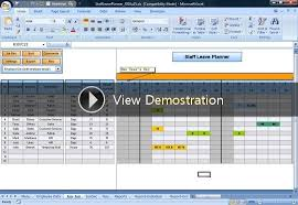 Anual Leave Planner Template Manage Staff Leave With This Excel