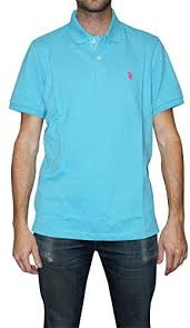 <b>U.S. Polo</b> Assn. Men's Classic Polo Shirt, Blue Fin Heather, Small ...