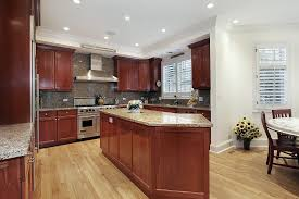 image of what color hardwood floor with cherry cabinets ideas