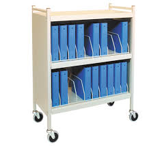 Medical Chart Carts With Vertical Racks Workhorse Series Mobile Chart Binder Racks Rolling Carts