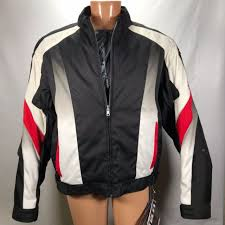 new teknic motorcycle jacket rn84928 mens s size 46 armored polyester nylon