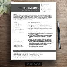 Modern Bullet Points Resume Creative Resume Template One Page Functional Resume Cover