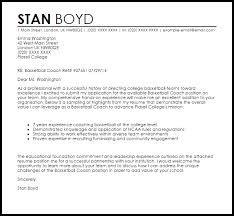 Cover Letter For Basketball Coaching Position Basketball Coach Cover Letter Sample Cover Letter