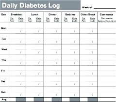 Diet Log Sheets 8 Best Images Of Diabetic Food Log Sheets Printable And