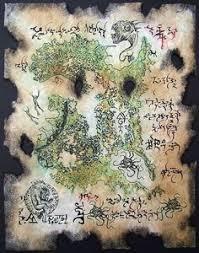 cthulhu rlyeh map larp magic rpg prop necronomicon by zarono