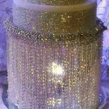 wedding cake stand with crystals chandelier acrylic beads also available in crystal