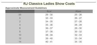 Rj Classics Show Shirt Size Chart Rj Classics Lauren Show Shirt