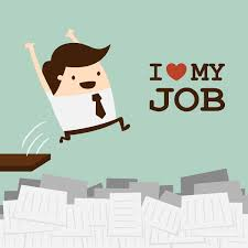 money or job satisfaction steve wr happy businessman jump to his work love my job