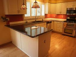 Kitchens With Granite Peninsula White Wooden Kitchen Cabinets Dining Sets U Shaped