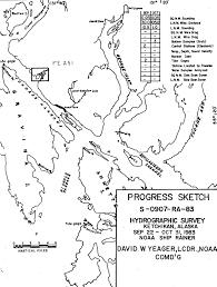 Ketchikan Tide Chart F00251 Nos Hydrographic Survey Ward Cove Ketchikan And