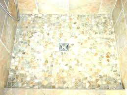 concrete shower floors concrete r floors pebble for tiled rs how to install painting paint floor