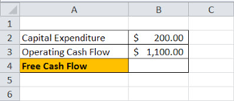 free cash flows example free cash flow fcf formula how to calculate free cash flow