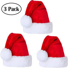 Santa Hat Velvet Comfort Christmas Hats for Adults ... - Amazon.com