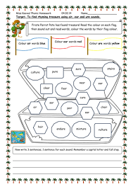 Jolly roger phonics (oo/ar) (kevin payne). Phonics Phase 5 Homework Or Lesson Worksheets Teaching Resources