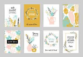 Spring Photo Cards Set Of Artistic Creative Spring Cards Download Free