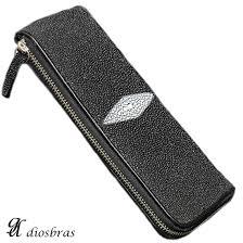 leather stingray leather akon leather stingray wallet shark zip round zipper zipper slim wallet leather wallet