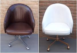 how to paint leather furniture. View In Gallery Leather Chair Before And After The Transformation How To Paint Furniture