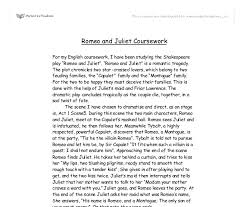 romeo and juliet  summary  alevel english  marked by teacherscom document image preview