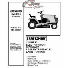 craftsman tractor parts manual 944 600031