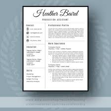 Stylish Resume Template Cv Template Cover Letter For Ms Art