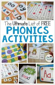 Phonics printable worksheets and activities (word families). The Ultimate List Of Free Phonics Activities This Reading Mama
