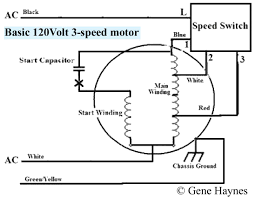 how to wire 3 speed fan switch fan motor receives voltage from black hot and white neutral inside all motors are coils of wire call windings start winding and main winding are two