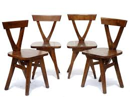 Image Wooden Folding Pamono Vintage Wooden Chairs Set Of For Sale At Pamono