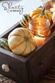 Fall Table Decorations With Mason Jars Fall Table Centerpiece A Couple Pieces Of Wood Mini Gourds And 85