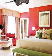 Red Bedroom Bench Bedroom With Red Grasscloth Wallpaper With Wall Hanging Pictures