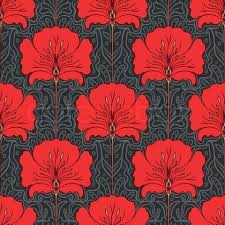 4206804 181360 colorful seamless pattern with red flowers  on art nouveau art deco wallpaper designs with art deco wallpapers and carpets sidewalk empire