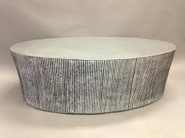 silver drum table silver drum coffee table amazing large round concrete com home ideas silver drum silver drum table